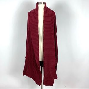 J. Crew M/L open shawl collar sweater cardigan